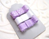BabyGirl Small Bow Hair Clips / Infant Clip  / Girls Petite Baby Bow PURPLE SUGAR Infant No Slip Clips/Girls Bow or U Pick