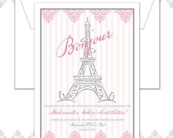 Paris Eiffel Tower Invite
