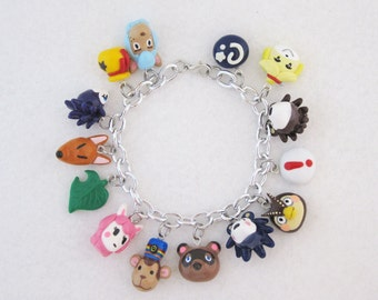 Custom Choose Your Own Villagers Items Animal Crossing New Leaf Villager Charm Bracelet 14 Charms