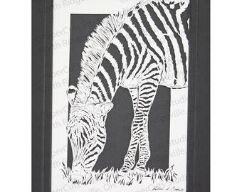 Zebra Papercutting, Original, Hand-cut, Final Edition