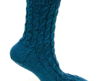 Staggered Cable Socks