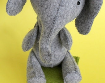 E is for Elephant : completely hand sewn sewing pattern