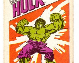 Large The Incredible Hulk Sticker 70's Vintage Marvel Comics 1979