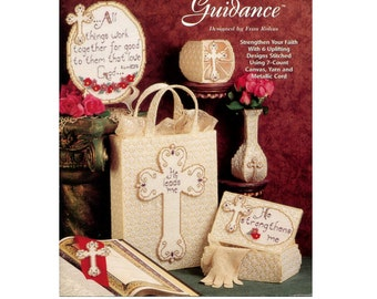 Divine Guidance Plastic Canvas Pattern - Needlecraft Shop 953352 - Jewelry Box / Bookmark / Votive Holder / Tote Bag