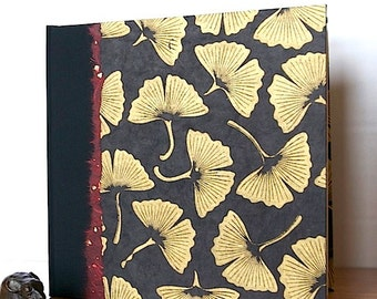 Photo Album Scrapbook Black Gingko Leaf