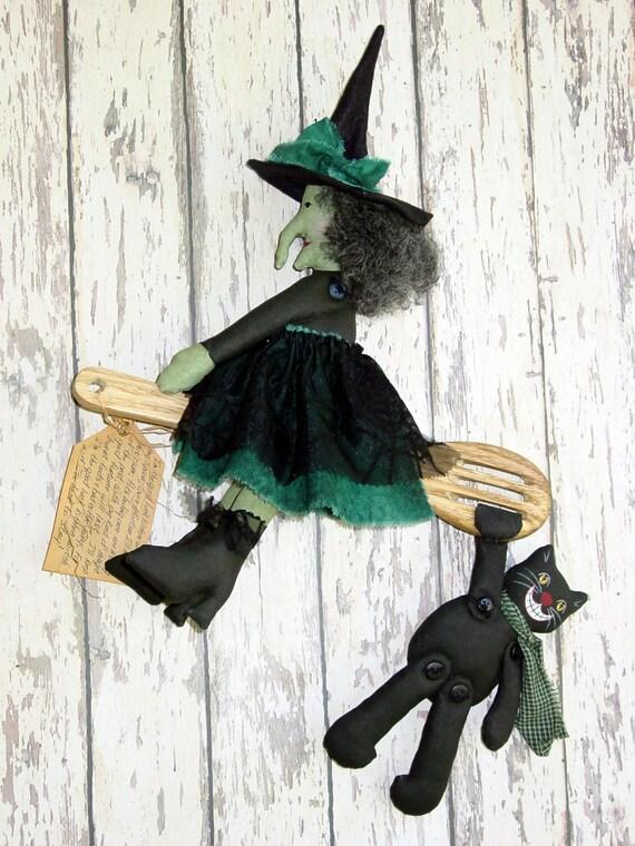 Cf185 Primitive Kitchen Witch Primitive Kitchen Witch Cloth
