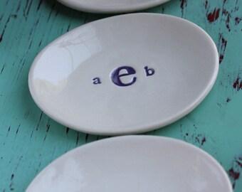 Custom Dish with Monogram, Monogramed Ring Dish, Monogramed Trinket Dish, Trinket Dish with Monogram, Ring Dish With Monogram,