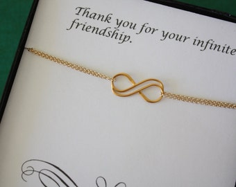 Bridesmaid Infinity Anklet,  Infinity Jewelry, Best Friend Gift, Thank You Card, Birthstone, Sterling Silver Anklet, Infinite Charm