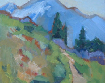Landscape Oil Painting// Cascade Mountains// Hart's Pass //WA State //9 x 11