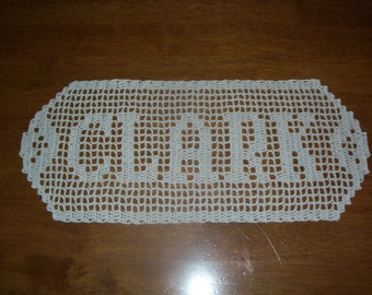 Filet Crochet Name Doily - Up to 8 Letters