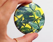 Zebra Leaf Pocket Mirror