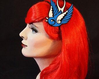 Swallow Headband - Tattoo Flash Bird Graphic Fascinator
