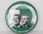 1980 Louisiana forJames Carter -Walter Mondale Democrat Presidential Campaign Pinback Button
