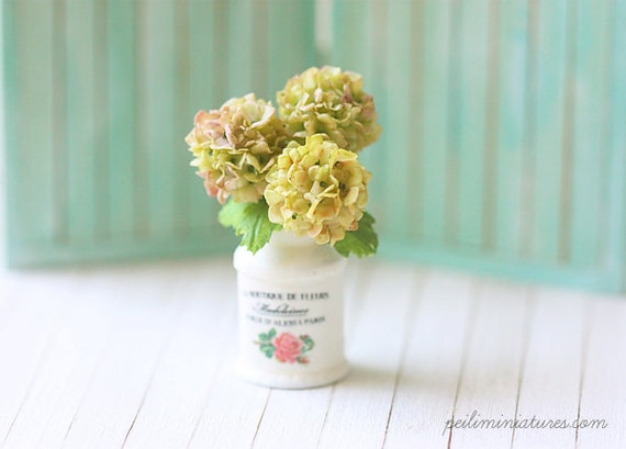 Dollhouse Miniature Flowers- Vintage Hydrangeas