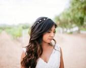 Bridal Headpiece, Berry Crown, Hair, Wreath, Berries, Woodland, Simple, Wedding, Twig, White, Boho