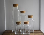 vintage glass corked canisters