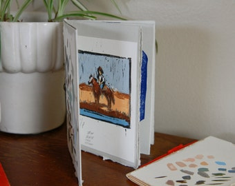 handmade artist's book with original content/ books and zines / fine art zine / gifts for artists / original prints / art collage