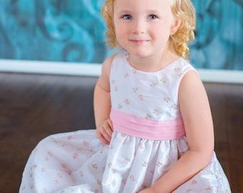 Light Pink Headband Toddler Headband Toddler Girl Headband Crochet Flower Headband White Flowers Pastel Pink Spring Headband Easter Headband