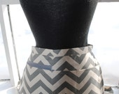 Vendor Apron Server Apron Cash Apron Travel Apron Gray Chevron Cotton Twill