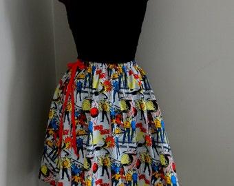 Star Trek Womens Geekery A line Colorful Skirt
