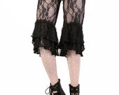 Capris, Black Lace, Bloomers, Steam Punk, Tribal, Circus, Dance, Bellydance Fairy, Vampire, Fearie, Halloween, Dark Fusion Boutique