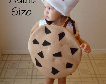 Adult Costume Cookie Halloween Costume Chocolate Chunk Cookie with Milk Carton Hat Teen Mens Womens