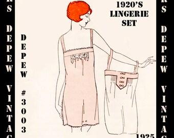 Vintage Sewing Pattern Instructions 1920's Flapper Basic Lingerie Ebook Depew 3003 -INSTANT DOWNLOAD-