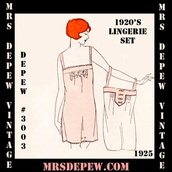 1920s Style Underwear, Lingerie, Nightgowns, Pajamas 1920s Flapper Basic Lingerie Ebook Depew 3003 -INSTANT DOWNLOAD- $7.50 AT vintagedancer.com