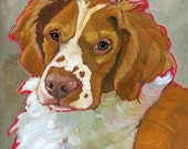 Brittany Spaniel No. 1 - magnets, coasters and art prints, blank notecards, brittany spaniel home decor, brittany spaniel wall art