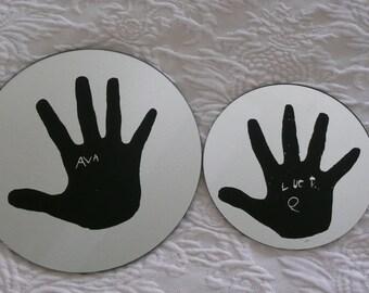 Custom handprint mirror