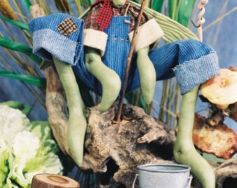 Cloth Doll E-Pattern -24in Country Grasshopper Doll EPattern