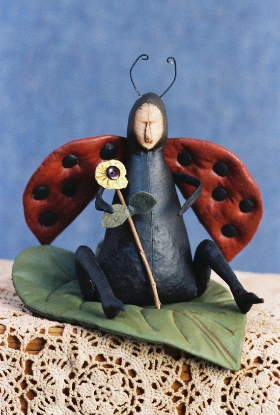 Cloth Doll E-Pattern - Lady Bug doll pattern