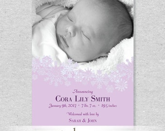 Snowflakes Birth Announcement