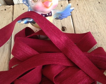 Fold over Elastic 5/8 inches  WINE 10 yards