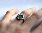 Bouquet Ring, Sterling Silver, black patina,  Made to order in your size