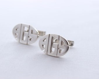 Custom Cufflinks, Oval  Monogram Cuff Links , Made to order, Personalized Cuff Links, For Groom, Groomsmen, Husband