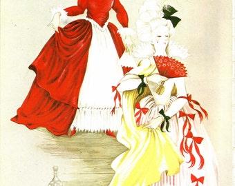 Fairy Tale Print - Cinderella - Vintage Print - Children's Book Plate, Book Print - Evil Stepsisters - Beverlie Manson - 1970s