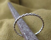 Twisted silver ring with antique finish available 3-10 American ring size