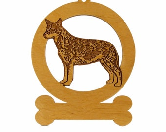 Austrailian Cattle Dog Stack Ornament 081309 Personalized With Your Dog's Name
