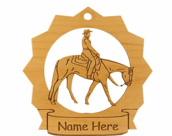 Quarter Horse Walking Wood Ornament 088245 Personalized With Your Horse's Name