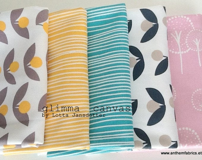 Sale fabric! GLIMMA CANVAS home decor fabric by Lotta Jansdotter, modern scandinavian fabric by the half yard - choose a 1/2 yard