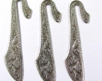 Embossed Bookmark Findings Silver