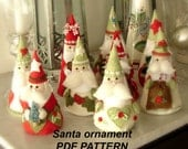 PDF PATTERN Santa Christmas ornaments