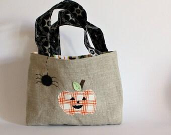 Bag halloween pumpkin applique