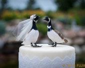 Sale! Canada Goose Wedding Cake Topper: Bride & Groom Love Bird Cake Topper