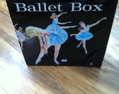 SALE Beautiful Vintage Ballet Box Vinyl Carrying Case Ballet Shoe Compartment 1960s by Mattel