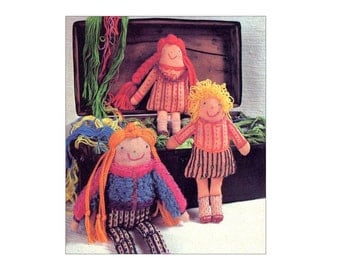 Vintage Dolls Pattern Storybook Embroidered Cloth Doll Character Dolls Pillow Dolls Vintage Sewing Pattern