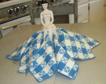 Vintage Napkins Set of 6 Blue Picnic Check