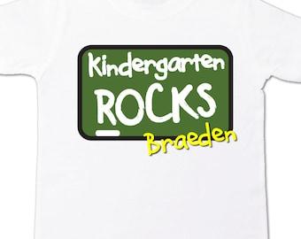 Back to school shirt - chalkboard kindergarten, first grade, second grade or ANY grade ROCKS personalized back to school Tshirt