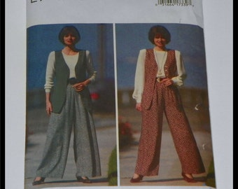 Butterick Vest and Pants Sewing Pattern 1993